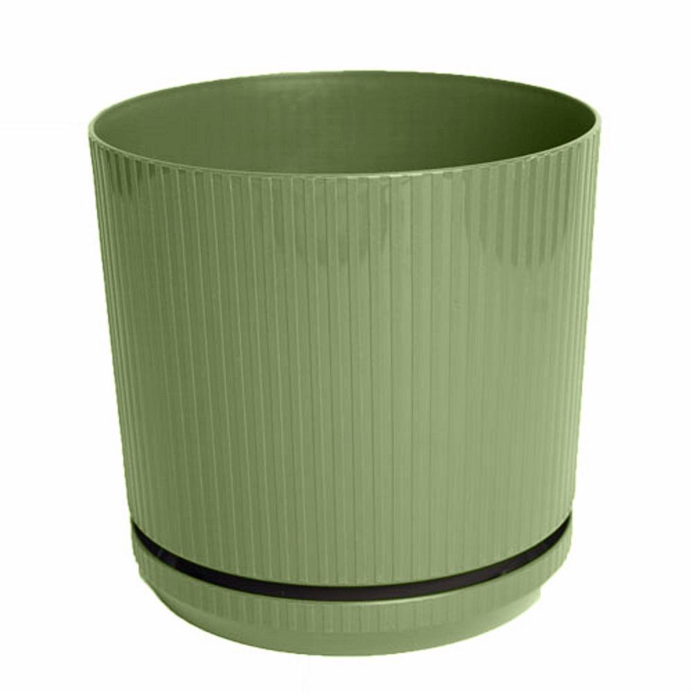 Bloem 8 in. Living Green Cetara Plastic Planter
