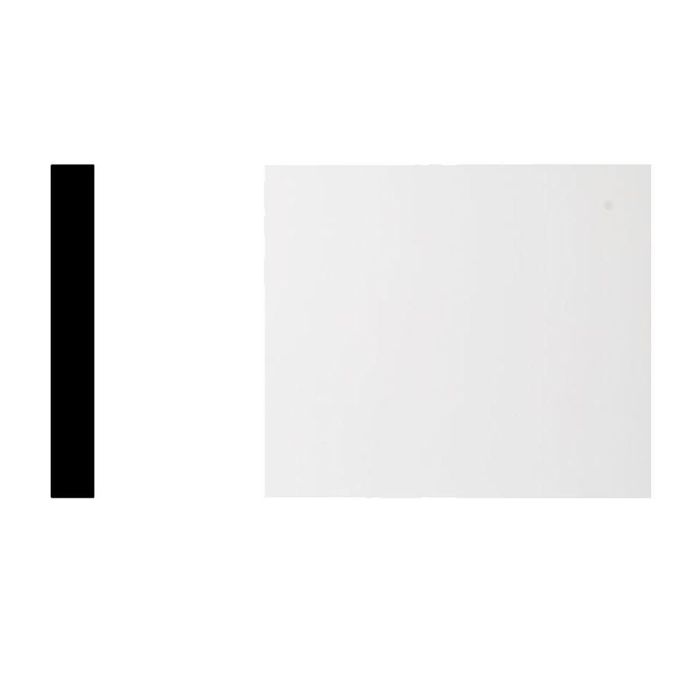 Royal Building Products 7311 1 in. x 6 in. x 8 ft. Primed White PVC Trimplank S4S Moulding