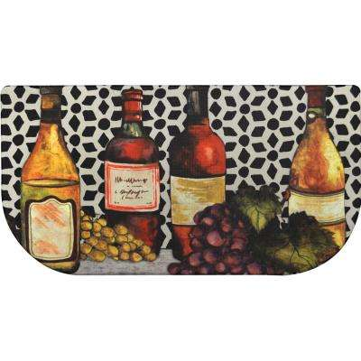 Cook N Comfort Multi Trellis Wine 20 in. x 39 in. Slice Kitchen Mat
