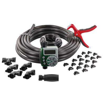 Garden Box Drip Watering Kit with Hose Faucet Timer