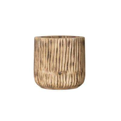 12.25 in. H Brown Wood Planter