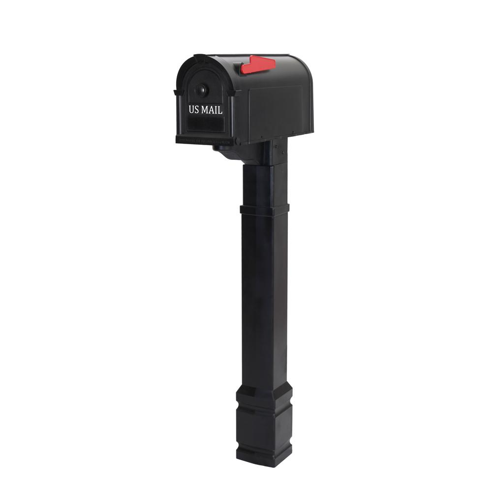 Postal Pro Brookside Mailbox and Post Kit in Black