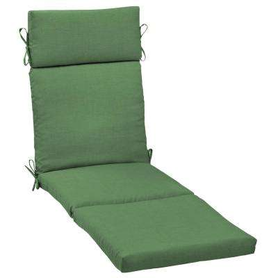 Moss Leala Texture Outdoor Chaise Lounge Cushion