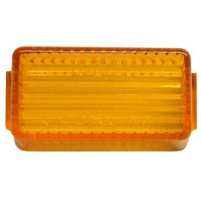 1-5/8 in. Amber Rectangular Clearance/Side Marker Replacement Lens