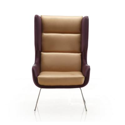 Purple and Tan Arsenal Accent Chair