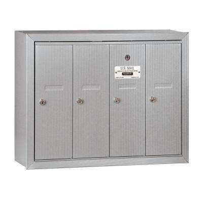 3500 Series Aluminum Surface-Mounted Private Vertical Mailbox with 4 Doors
