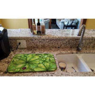 14 in. x 21 in. Shamrocks and Lady bugs Dish Drying Mat