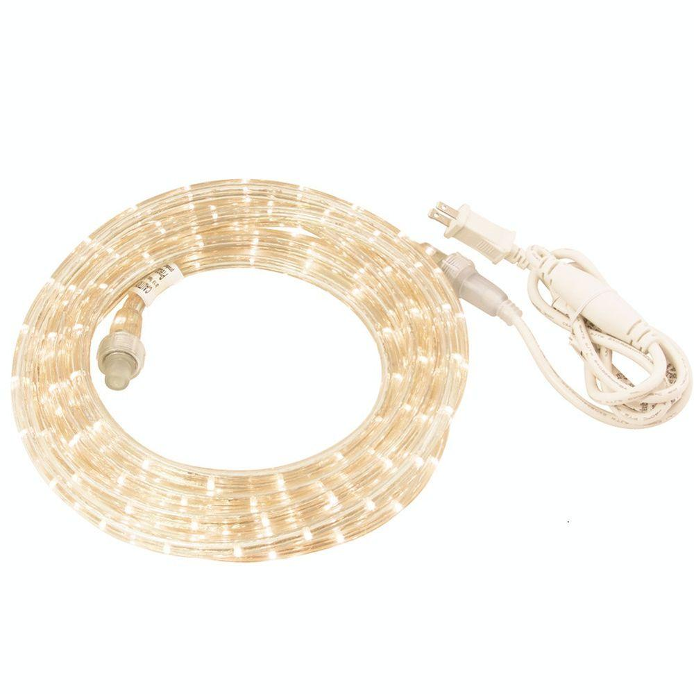 9 ft. Warm White LED Rope Light Kit