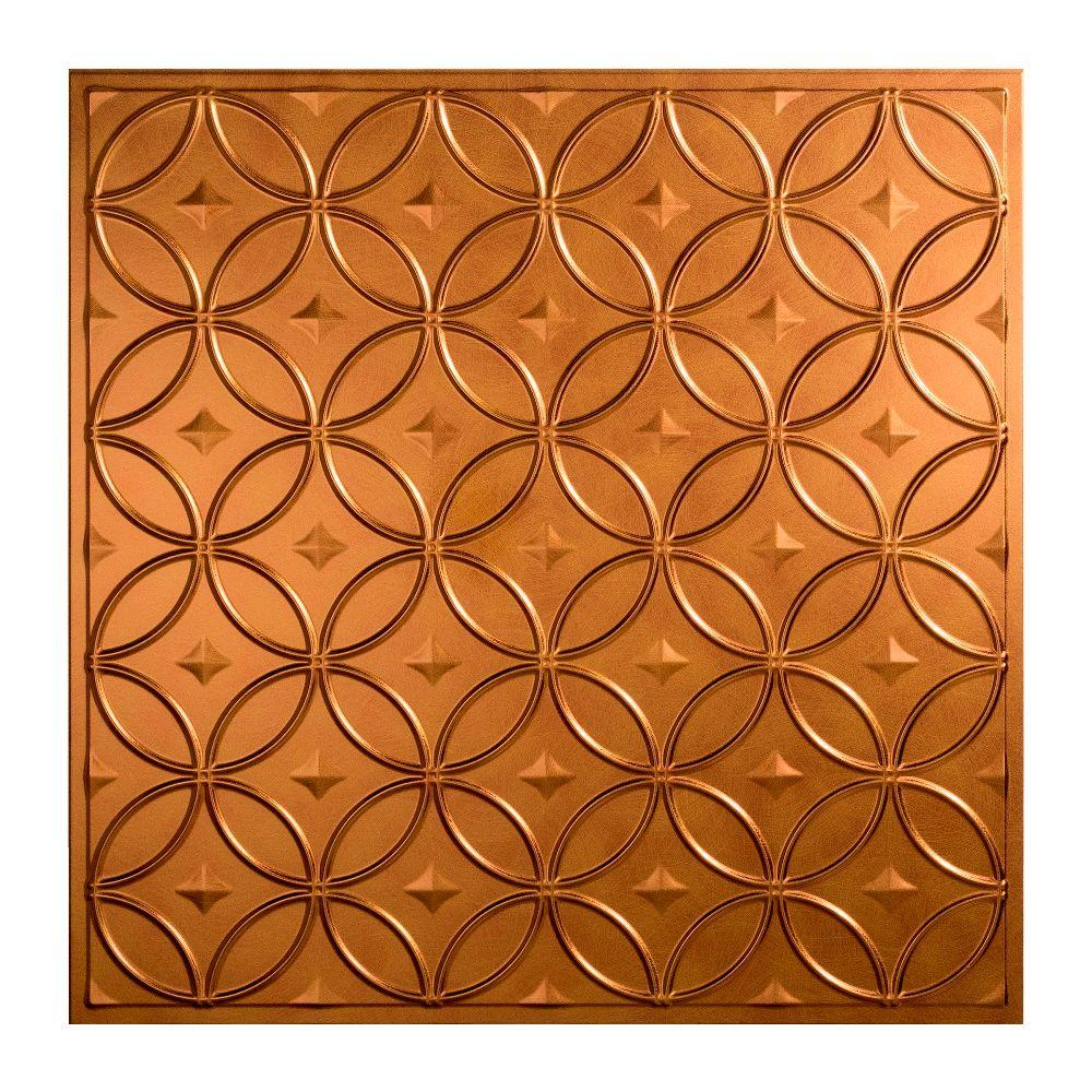 Rings 2 ft. x 2 ft. Lay-in Ceiling Tile in Antique