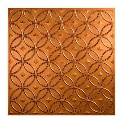 Rings 2 ft. x 2 ft. Lay-in Ceiling Tile in Antique Bronze
