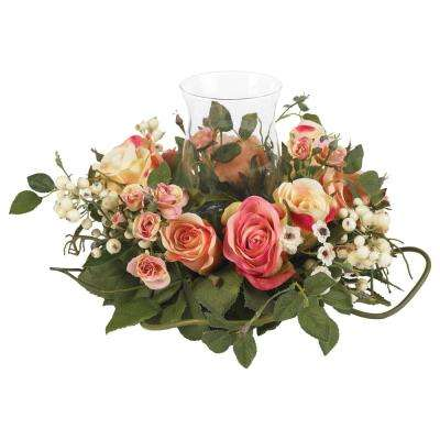 2 in. Rose Candelabrum Silk Flower Arrangement