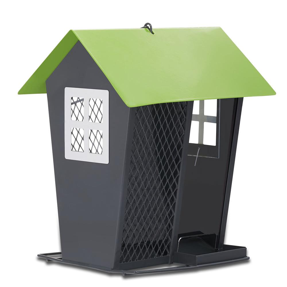 Gray and Lime Seed Duo Bird Feeder