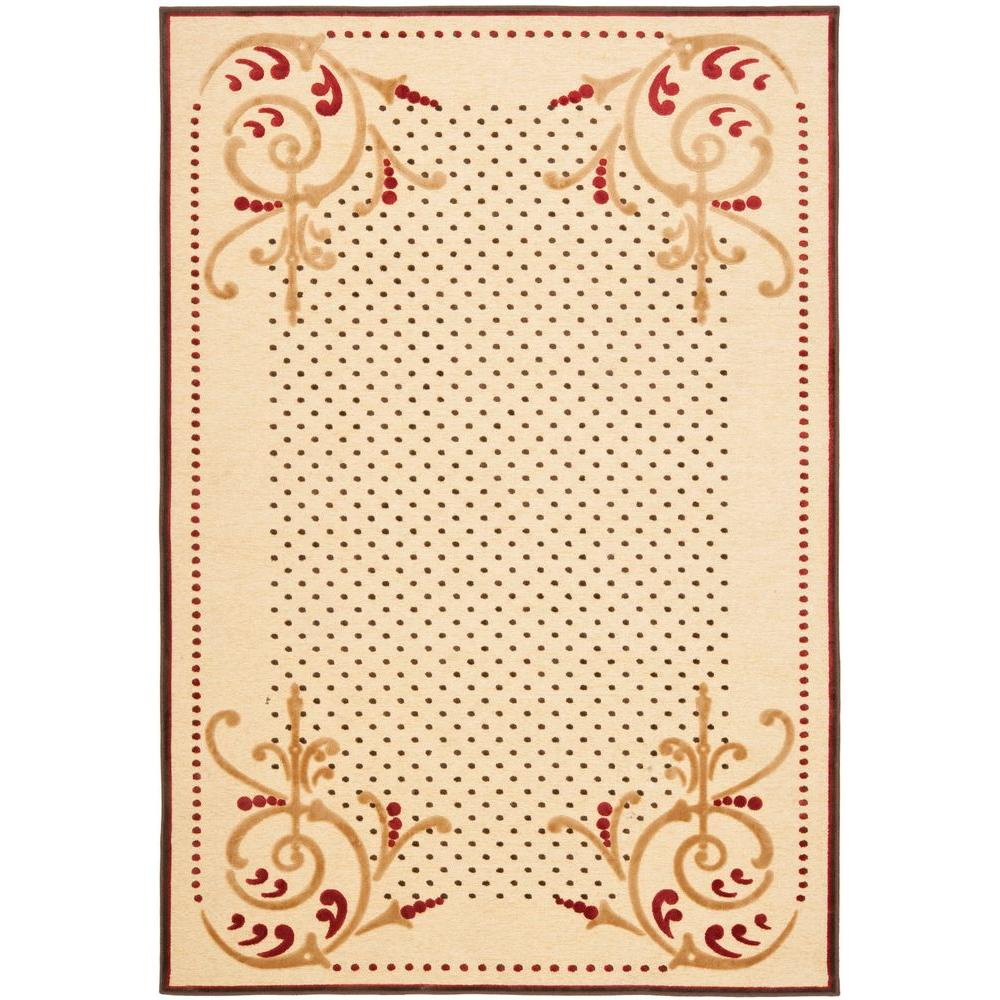 Martha Stewart Living Scrollwork Cream 4 ft. x 5 ft. 7 in. Area Rug