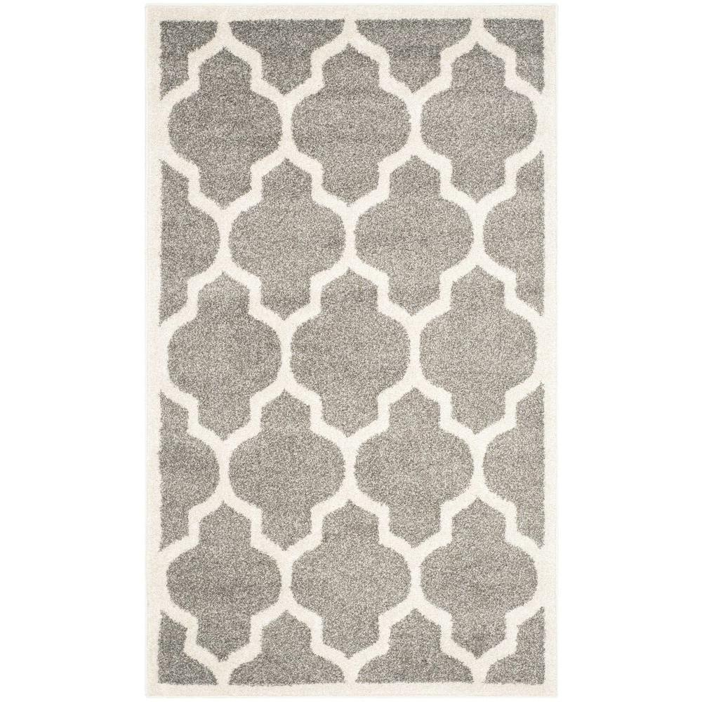Safavieh Amherst Dark Gray Beige 3 Ft X 5 Ft Indoor Outdoor Area