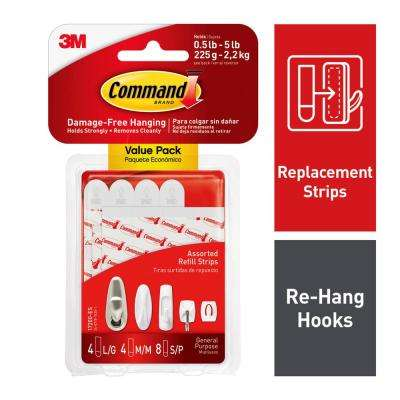 Small, Medium and Large Assorted Refill Mounting Strip (16 per Pack)
