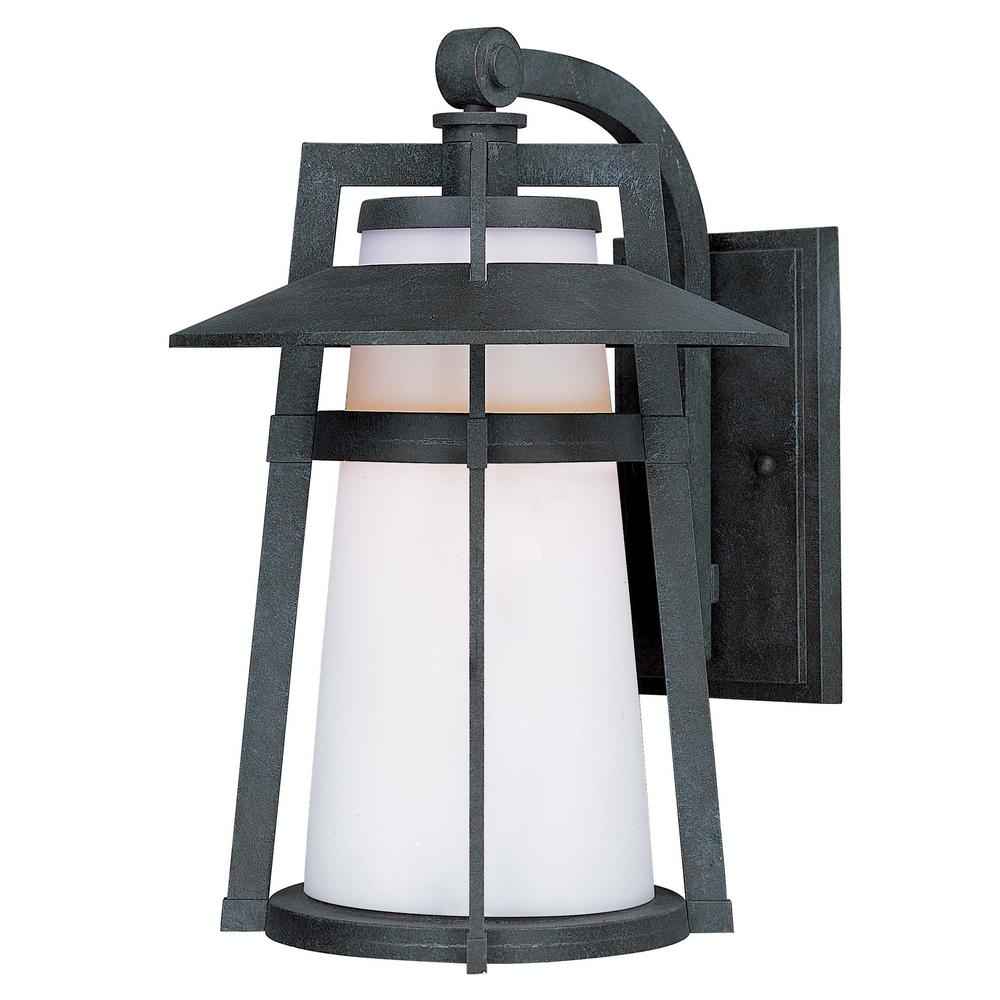 Maxim Lighting Carriage House 9 In Wide 1 Light Oriental Bronze Outdoor Integrated Led Wall Lantern Sconce 88534swae The Home Depot