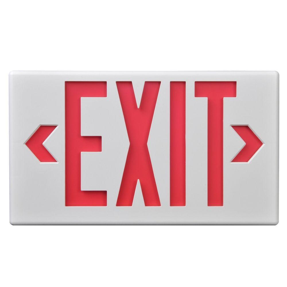 Cooper Lighting Black Polycarbonate LED Emergency Exit Sign