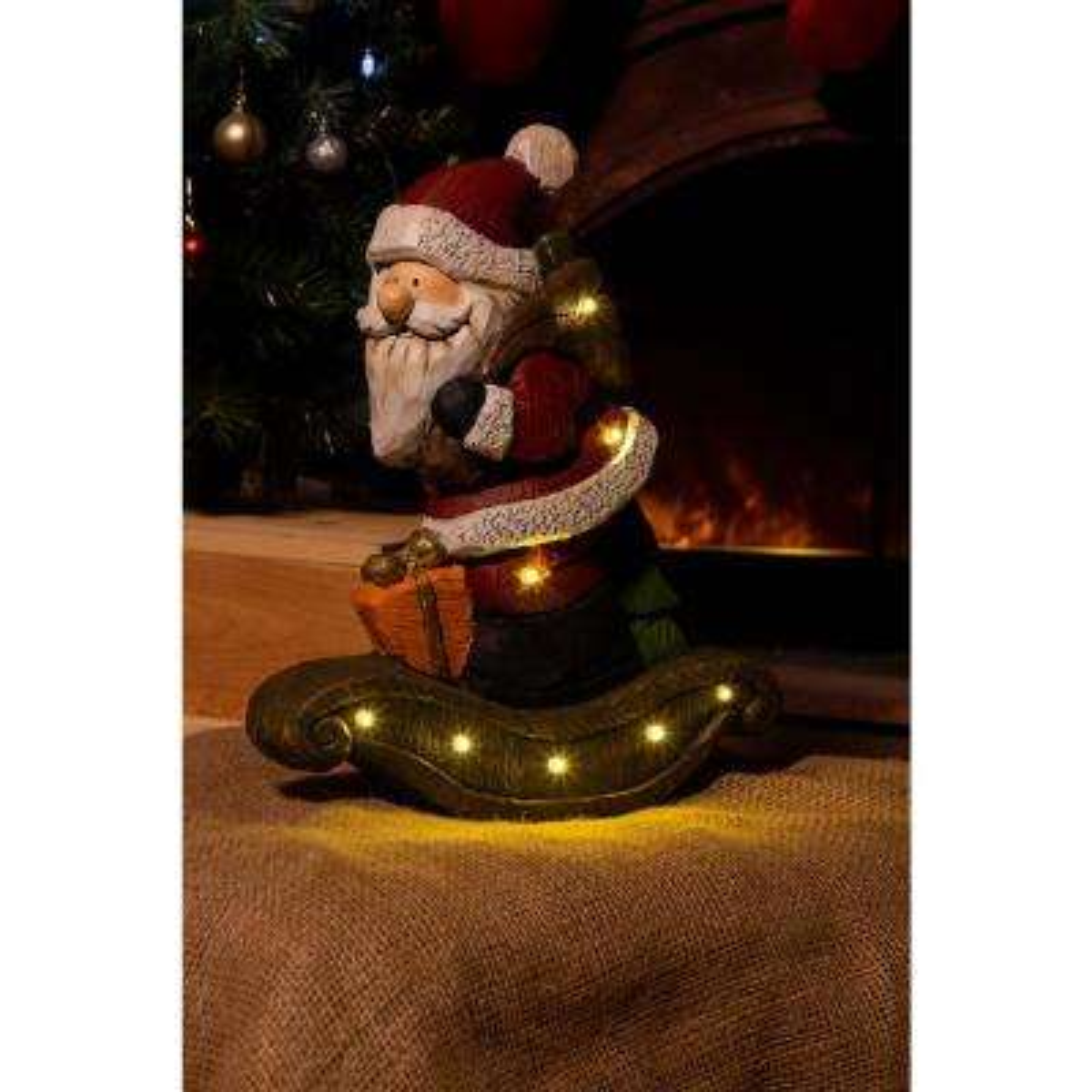 Light Up Outdoor Christmas Decorations.Christmas Santa Light Up Statue Decor Tm