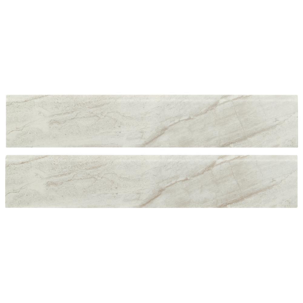 Vigo Gris Bullnose 3 in. x 24 in. Matte Ceramic Wall Tile (2 ln. ft.)
