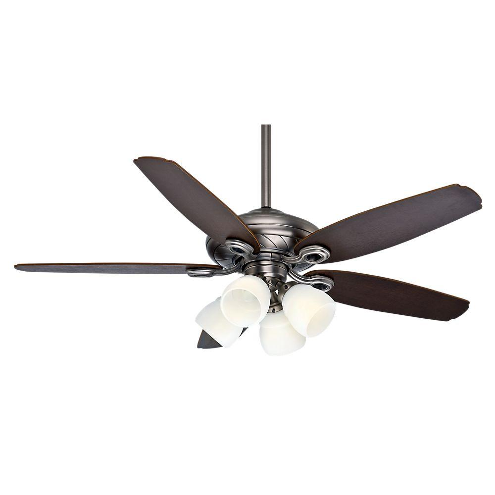 Casablanca Capistrano Gallery 52 in. Indoor Antique Pewter Ceiling Fan with 4-Speed Wall Mount Control