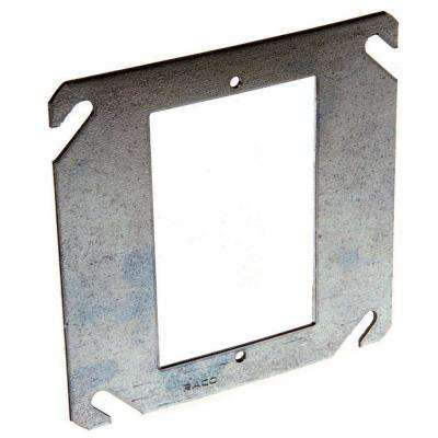 4 in. Square Single Device Mud Ring, Flat