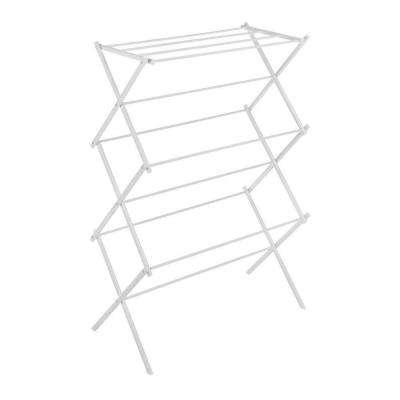 White Wire Collection 29.5 in. x 41.75 in. Folding Drying Rack