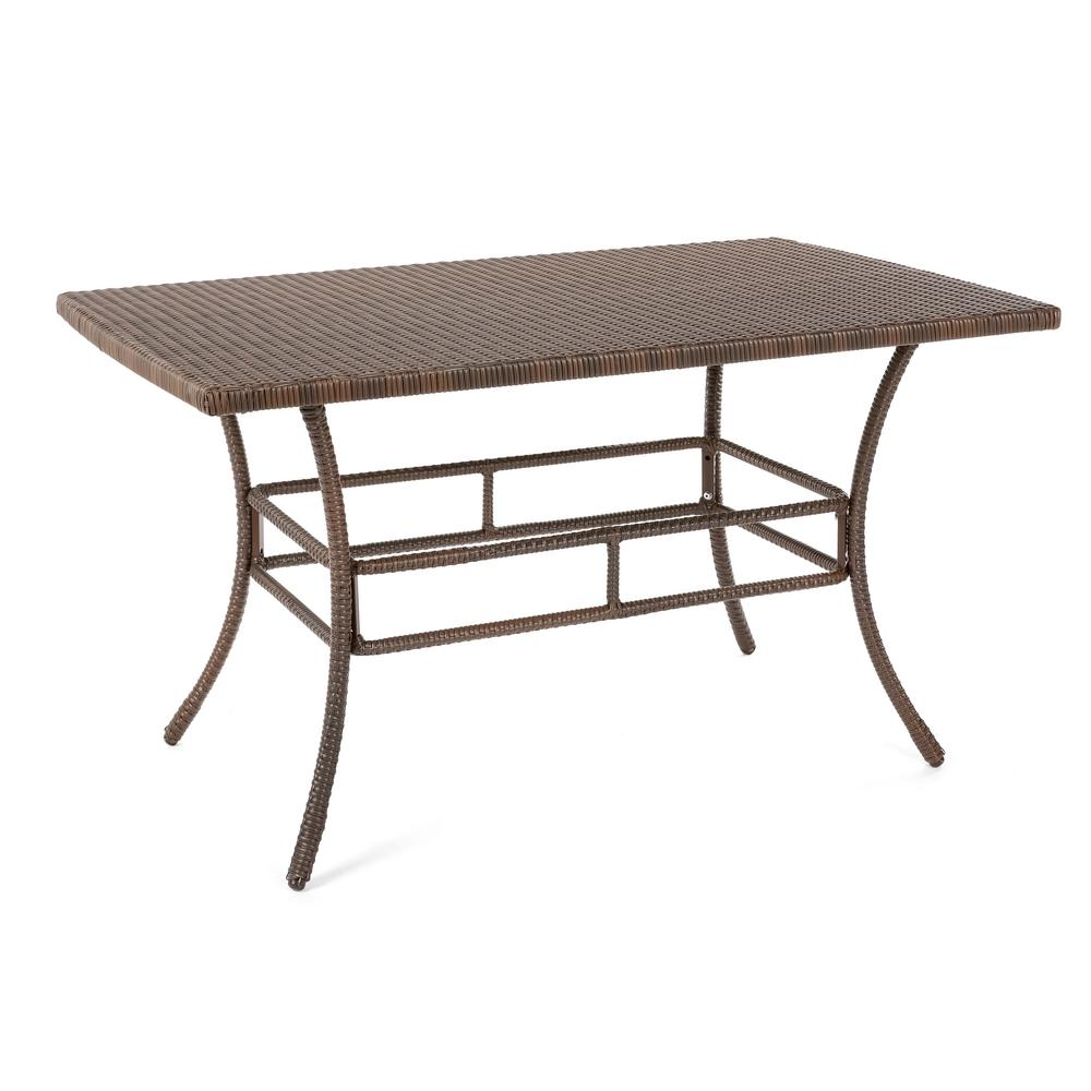 W Unlimited Leisure Brown Aluminum AllWeather Outdoor Dining Table - All weather outdoor dining table