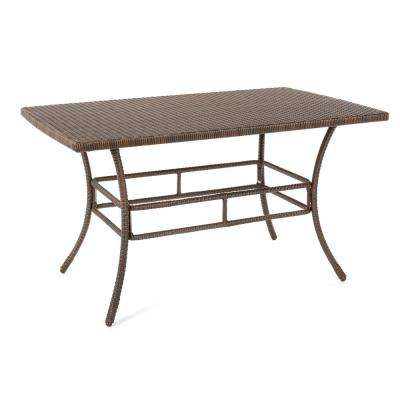 Leisure Brown Aluminum All-Weather Outdoor Dining Table