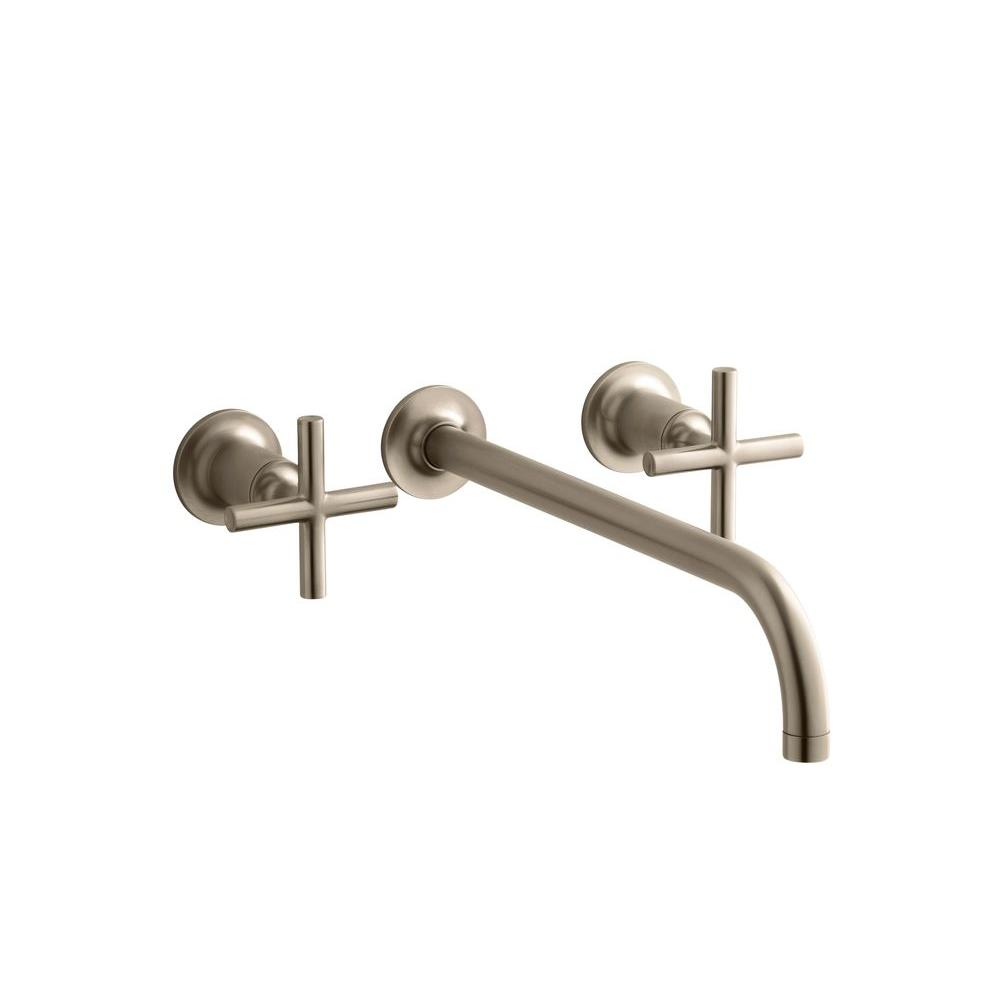 KOHLER Purist 2-Handle Wall-Mount Lavatory Faucet Trim and Cross Handles (Valve not included)-DISCONTINUED