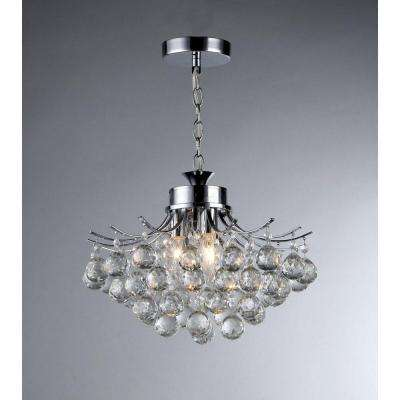 Crystal chandeliers lighting the home depot boadicea 3 light crystal chrome chandelier aloadofball Image collections