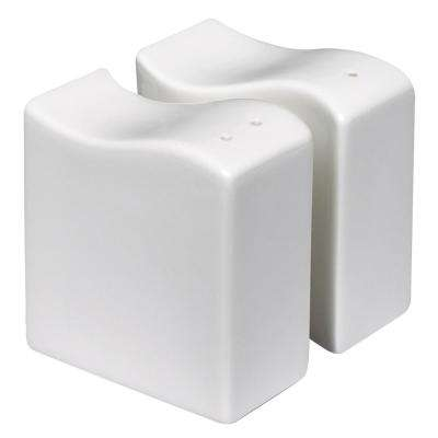 New Wave 2-Piece White Salt and Pepper Shaker Set