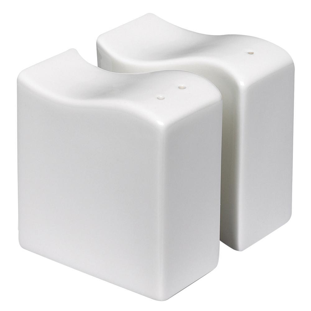 Villeroy & Boch New Wave 2-Piece White Salt and Pepper Shaker Set