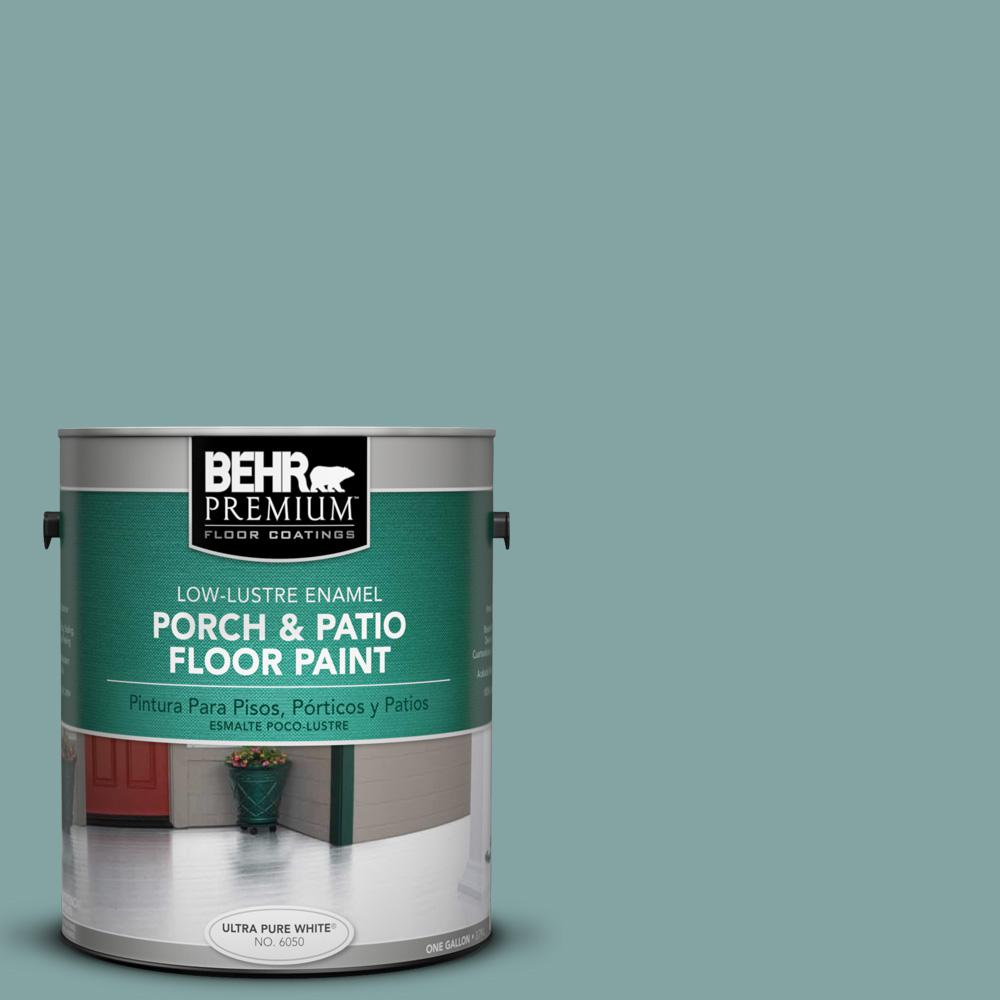 1 gal. #PPU13-08 Venus Teal Low-Lustre Porch and Patio Floor Paint