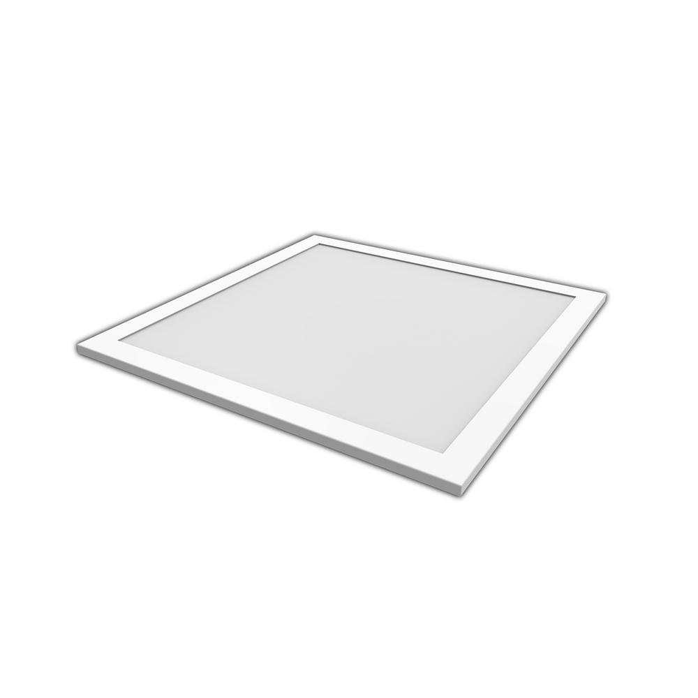Pixi 2 ft. x 2 ft. Edge-Lit 250-Watt Equivalent Soft White Integrated LED Flat Light Luminaire