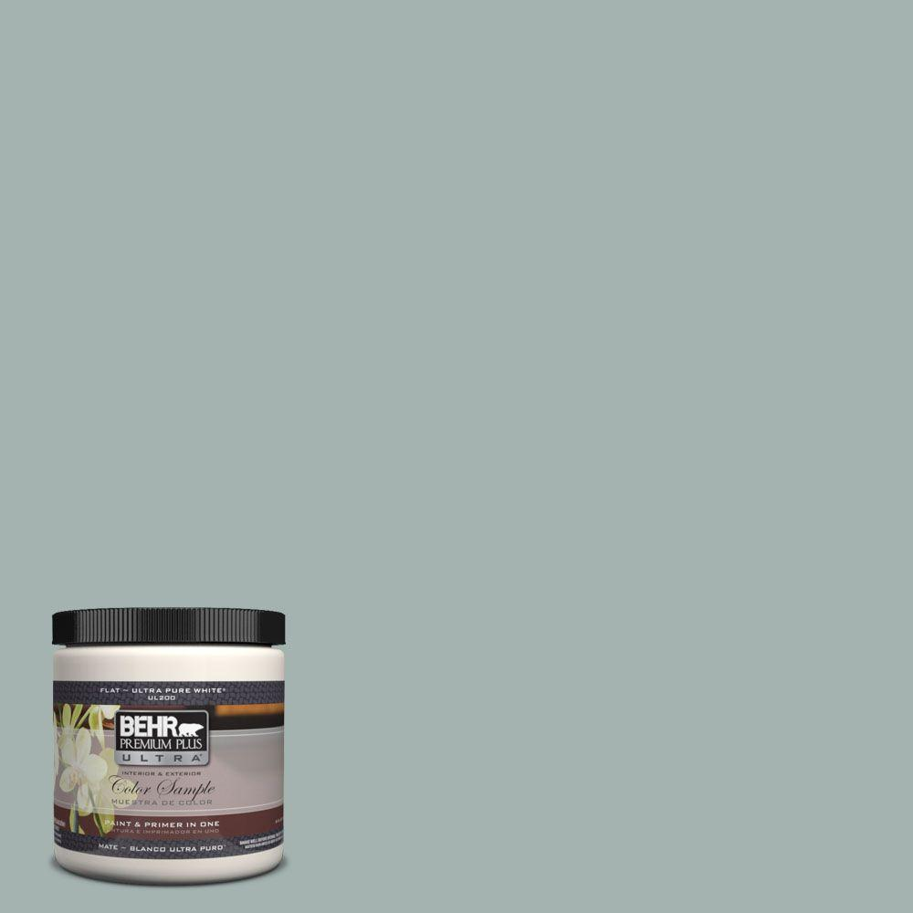 BEHR Premium Plus Ultra 8 oz. #UL220-15 Frozen Pond Interior/Exterior Paint Sample