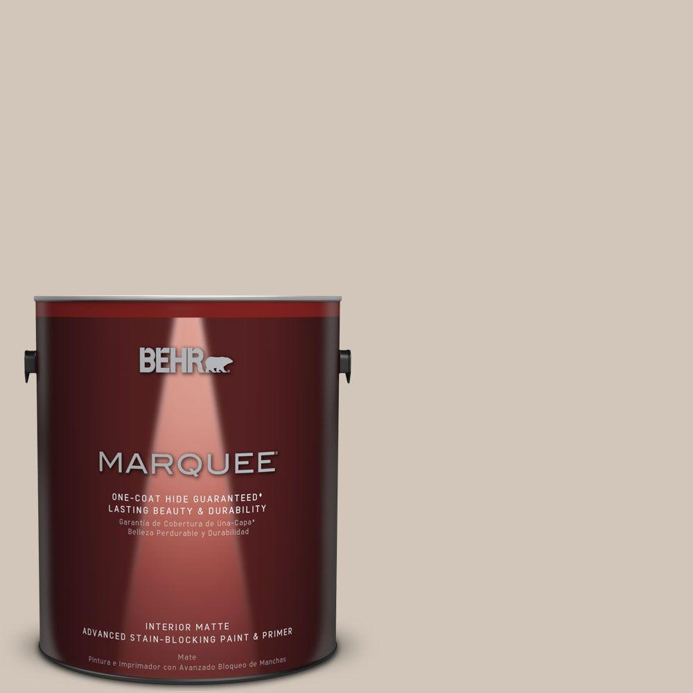 1 gal. #MQ2-50 Gravelstone Matte One-Coat Hide Interior Paint and Primer