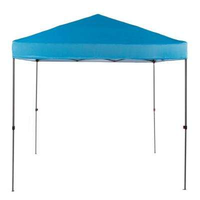 NS G64-B 8 ft. x 8 ft. Blue Straight Leg Instant Canopy Pop Up Tent