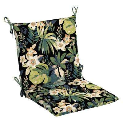20 x 17 Outdoor Dining Chair Cushion in Olefin Sky Tropical