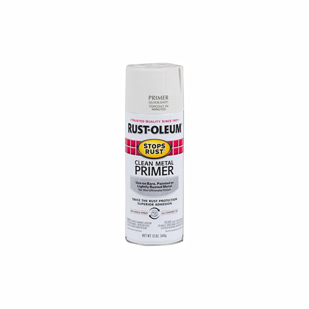 Rust-Oleum Stops Rust 12 oz. Flat White Clean Metal Primer Spray (6-Pack)