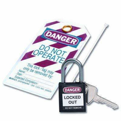 Compact Safety Padlock Kit - Black