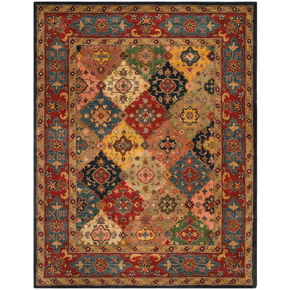 Safavieh Heritage Red Multi 9 Ft X 12 Ft Area Rug Hg926a