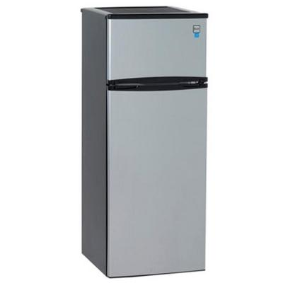 Apartment Size Top Freezer Refrigerator In Black And
