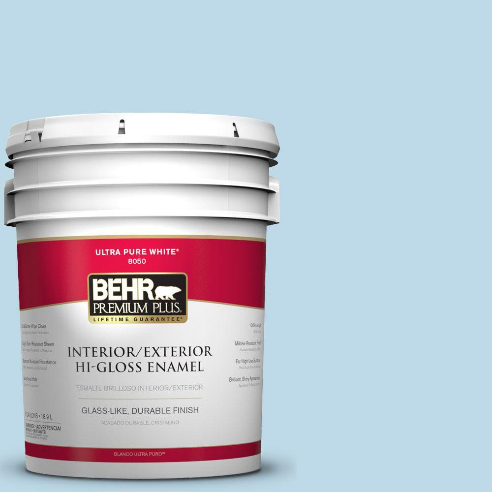 5-gal. #M500-1 Tinted Ice Hi-Gloss Enamel Interior/Exterior Paint