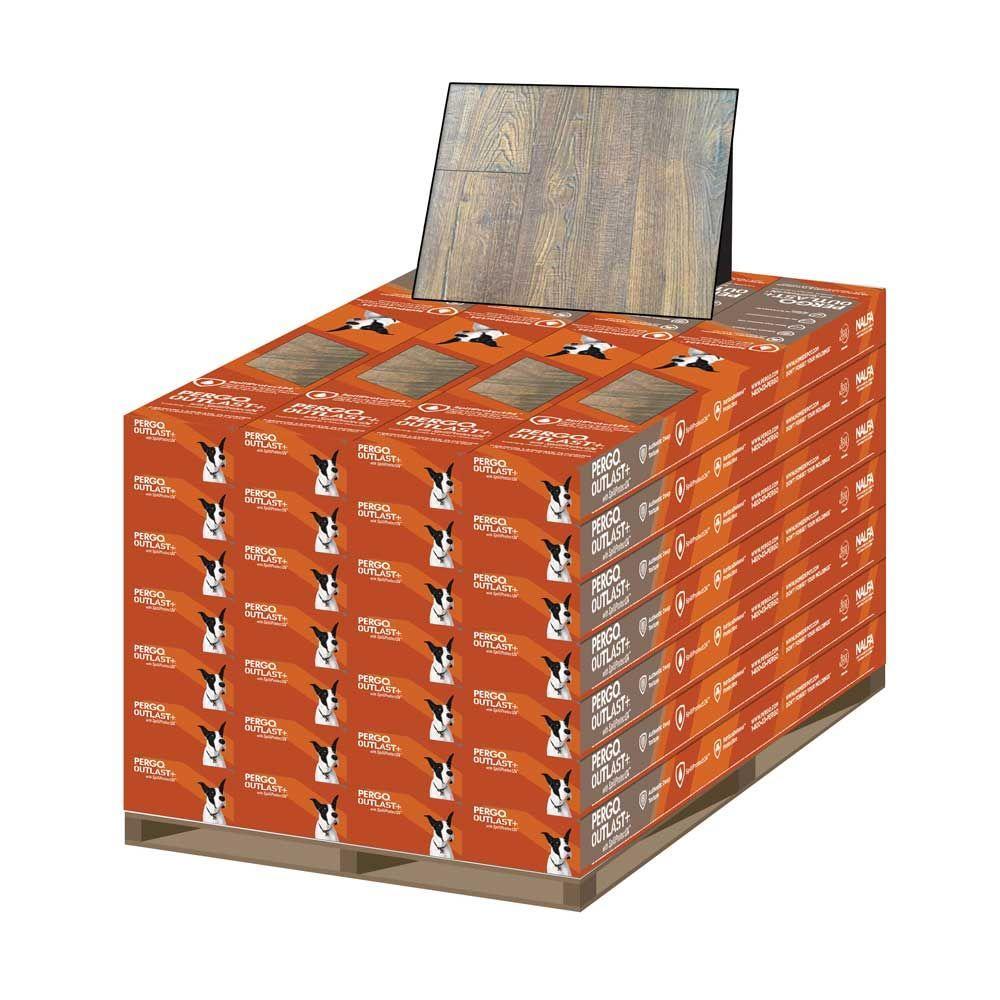 Outlast+ Auburn Scraped Oak 10 mm Thick x 6-1/8 in. Wide x 47-1/4 in. Length Laminate Flooring (451.36 sq. ft. / pallet)