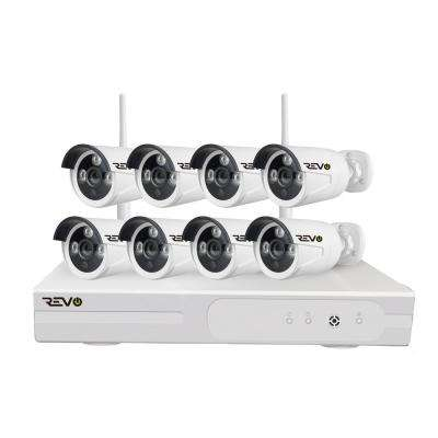 Wireless HD 8-Channel 1TB NVR Smart Surveillance System with 8-Wireless 1080p Full-HD Indoor/Outdoor Bullet Cameras