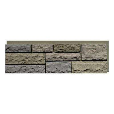 Random Rock 15.5 in. x 48 in. Faux Stone Siding Panel in Tri Buff (4-Pack)