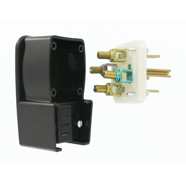 60 Amp Cable Junction Box 3 Terminals for 4-25mm2 Wire Joint Connector Brown