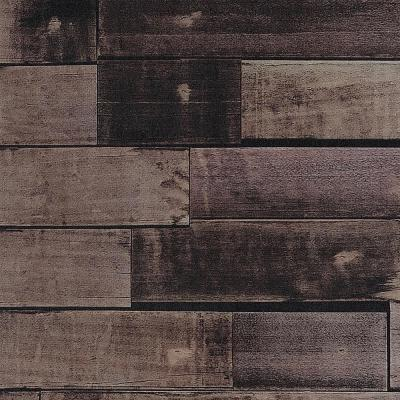 32 sq. ft. Zurich Chocolate Wood Vinyl Peelable Wallpaper (Covers 32.3 sq. ft.)