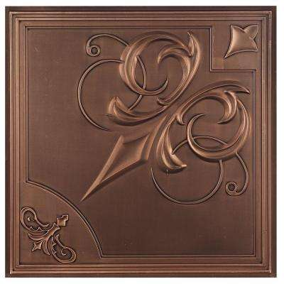 Risano 2 ft. x 2 ft. Lay-in or Glue-up Ceiling Tile in Antique Bronze (40 sq. ft. / case)