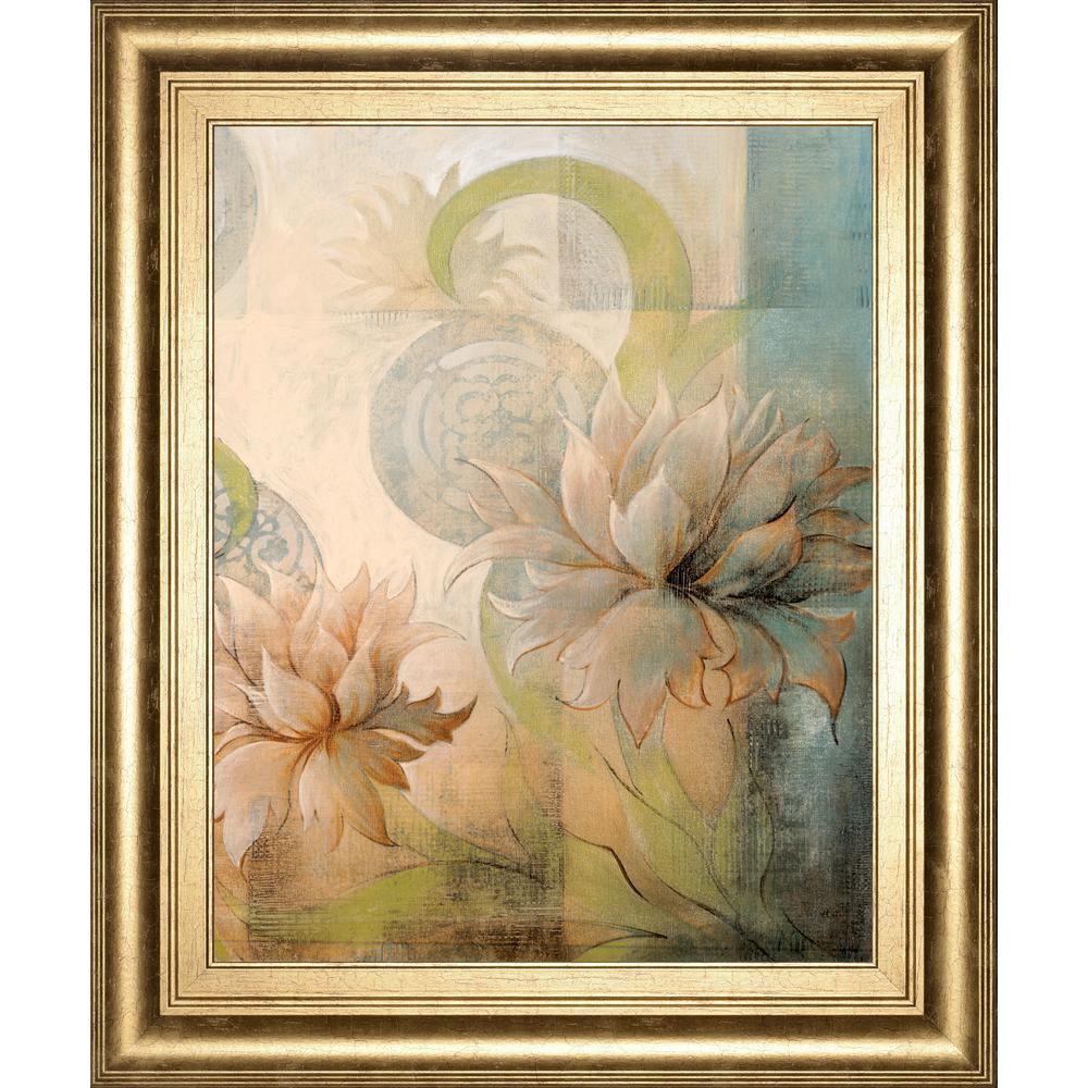 """22 in. x 26 in. """"Meandering Flowers 2"""" by Dee Dee Framed Printed Wall Art"""